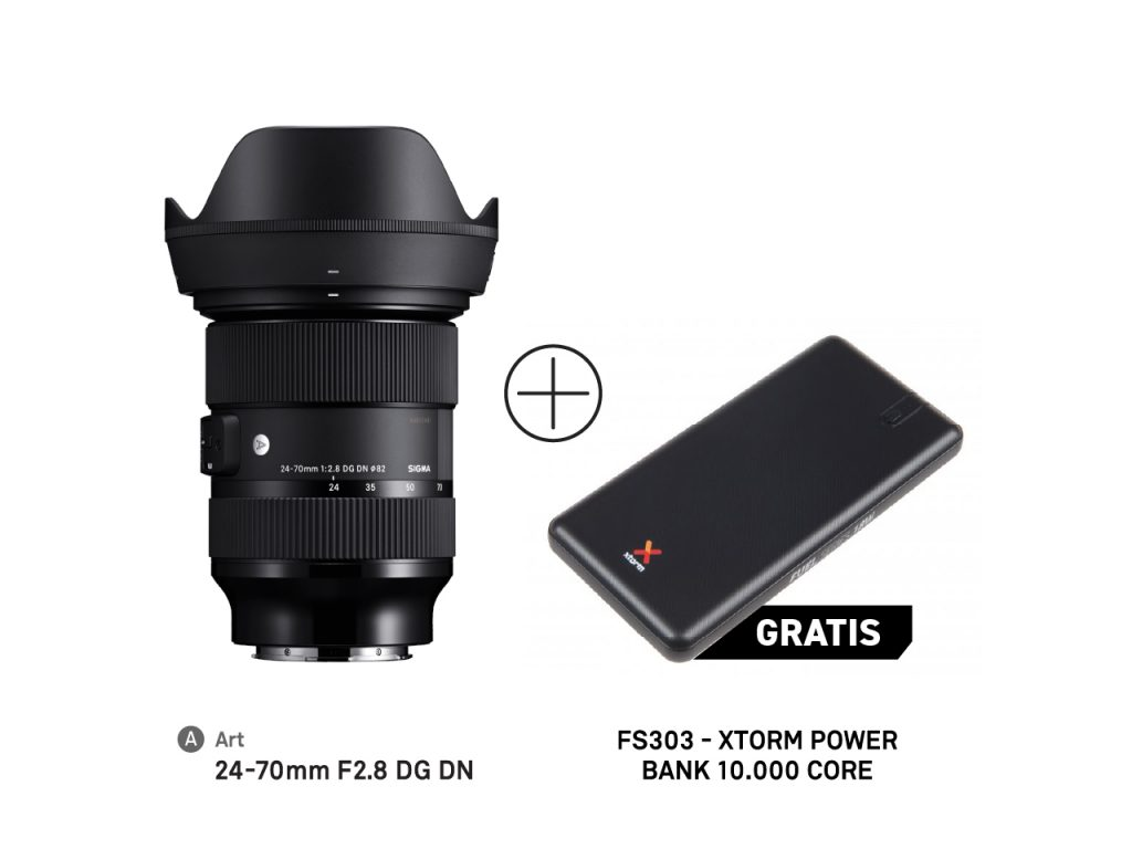 SIGMA 24-70mm F2.8 DG DN Art + powerbank